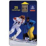 Phonecard for sale: Telia - Skiers, 08.1991, 25 units