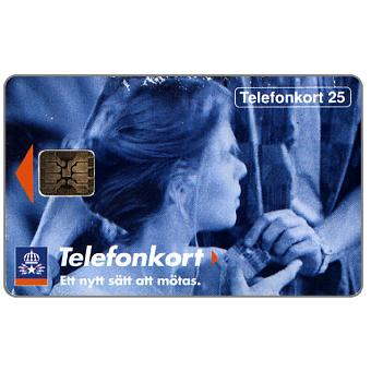 Phonecard for sale: Telia - Girl receiving a card, 25 units