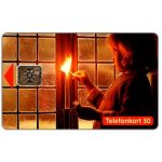 The Phonecard Shop: Telia - Girl lighting a candle, 50 units