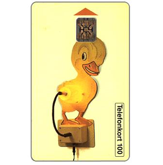 Phonecard for sale: Telia - Yellow duck - lamp, 100 units