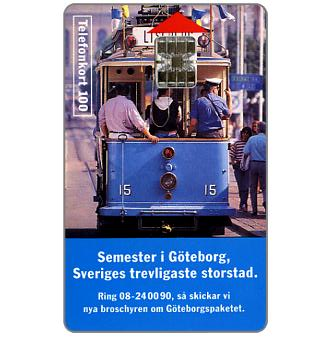 Phonecard for sale: Telia - Tourist tram, Goteborg, 100 units