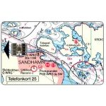 The Phonecard Shop: Sweden, Telia -  Sandhamn, nautic map, 25 units
