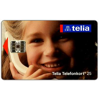Phonecard for sale: Telia - Girl at phone, 25 units
