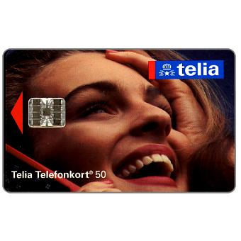Phonecard for sale: Telia -  Woman at phone, 50 units