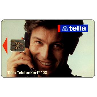 Phonecard for sale: Telia - Man at phone, 100 units