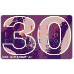 The Phonecard Shop: Sweden, Telia - Definitive, 30 units
