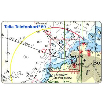 Phonecard for sale: Telia - Nautic Sports Map, 60 units