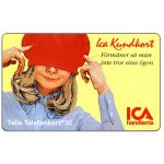 The Phonecard Shop: Sweden, Telia - ICA Member card, girl, 04.1994, 30 units