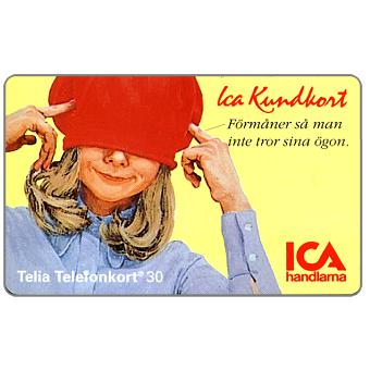 Phonecard for sale: Telia - ICA Member card, girl, 04.1994, 30 units