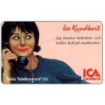 The Phonecard Shop: Sweden, Telia - ICA Member card, woman, 04.1994, 60 units