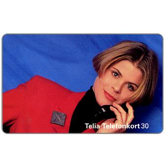 Phonecard for sale: Telia - Girl at phone, 30 units