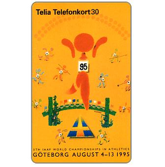 Phonecard for sale: Telia - World Athletic Games, 30 units