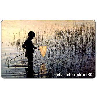 Phonecard for sale: Telia - Child fishing, 30 units