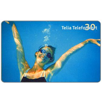 Phonecard for sale: Telia - Diving girl, 30 units