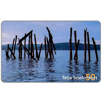 Phonecard for sale: Telia - Poles in water, 50 units