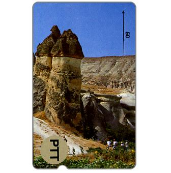 Phonecard for sale: Trial card, Cappadocia - Fairy Chimneys, 50 units