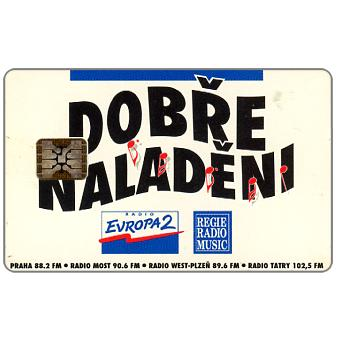 Phonecard for sale: Telecom Praha - Dobre Naladeni, Czech Radios, 100 units