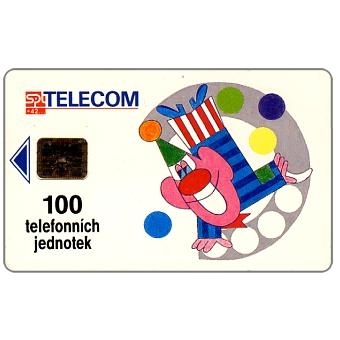 Phonecard for sale: SPT Telecom -  Oncology, clown, 100u