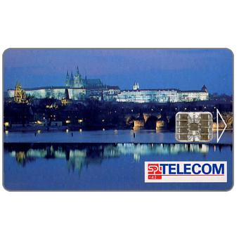 Phonecard for sale: SPT Telecom – View of Prague by night, 06.03, matt surface, 100 units