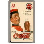 The Phonecard Shop: Score Board - Coca-Cola, At your Club refresh yourself, $2