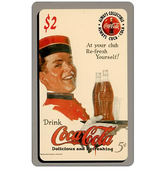 Phonecard for sale: Score Board - Coca-Cola, At your Club refresh yourself, $2