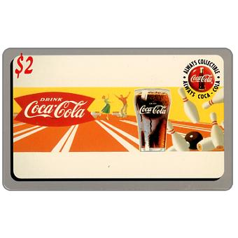 Phonecard for sale: Score Board - Coca-Cola, Drink Coca-Cola, bowling, $2
