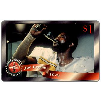 Phonecard for sale: Score Board - Coca-Cola, Joe Greene, $1