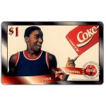 The Phonecard Shop: Score Board - Coca-Cola, Isiah Thomas, $1