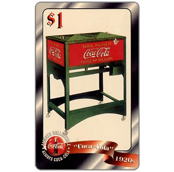 Phonecard for sale: Score Board - Coca-Cola, Late 1920s Cooler, $1