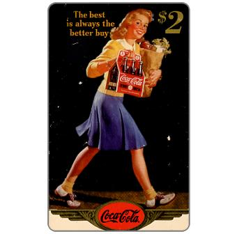 Phonecard for sale: Score Board - Coca-Cola, 1944 - The Best is always Better, $2
