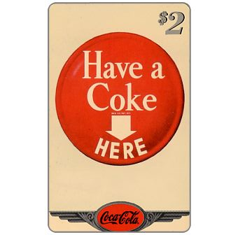 Phonecard for sale: Score Board - Coca-Cola, 1953 - Coke Sign, $2