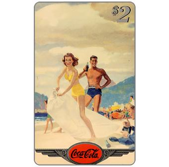Phonecard for sale: Score Board - Coca-Cola, 1945 - Eldrige, $2