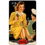 The Phonecard Shop: Score Board - Coca-Cola, Girl with GI, $2