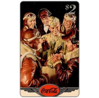 Phonecard for sale: Score Board - Coca-Cola, GI's, $2