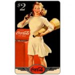 The Phonecard Shop: Score Board - Coca-Cola, 1944 Original Art, Cheerleader, $2