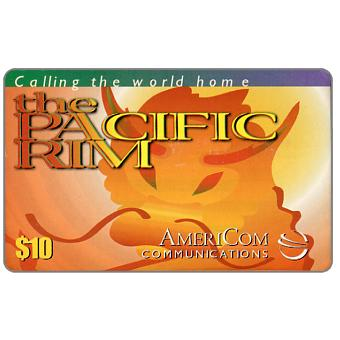 Phonecard for sale: AmeriCom - The Pacific Rim, $10