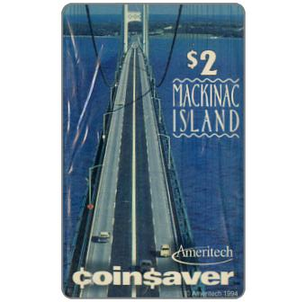 Phonecard for sale: Ameritech - Mackinac Island, Michigan, $2