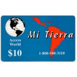 The Phonecard Shop: Access World - Mi Tierra, $10