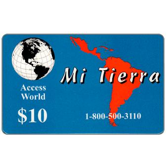 Phonecard for sale: Access World - Mi Tierra, $10