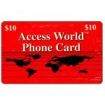 The Phonecard Shop: U.S.A., Access World - Red card, $10