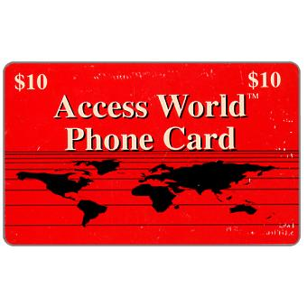 Access World - Red card, $10