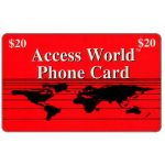 The Phonecard Shop: U.S.A., Access World - Red card, $20