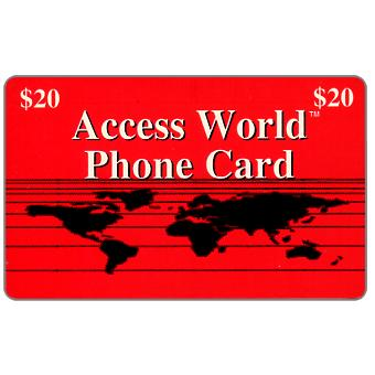 Phonecard for sale: Access World - Red card, $20