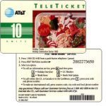 The Phonecard Shop: AT&T Teleticket - Holiday Treats, english text, 10 units