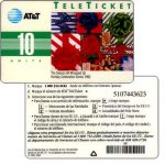 The Phonecard Shop: AT&T Teleticket - The Season all wrapped up, spanish text, 10 units