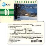 The Phonecard Shop: U.S.A., AT&T Teleticket - A Winter Wonderland, english text, 10 units