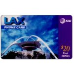The Phonecard Shop: AT&T - LAX phone card, Los Angeles California Airport, first edition, $20