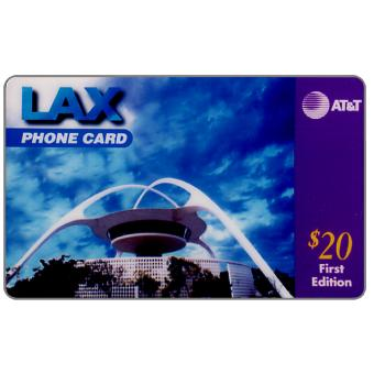 Phonecard for sale: AT&T - LAX phone card, Los Angeles California Airport, first edition, $20