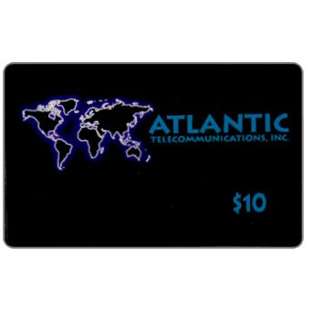 Phonecard for sale: Atlantic Telecommunications - World map, $10