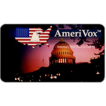 Phonecard for sale: Amerivox - Capitol Building, Business card size, $10/$100